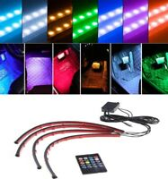 4x 72LED RGB 5050SMD Car Strip Light Interior Lamps Colorful Remote Control