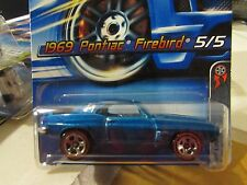 Hot Wheels 1969 Pontiac Firebird #100 Red Line Blue