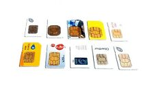 Lot of 10 Various Carrier Sim Cards At & T TracFone Untested Super Fast Shipping