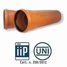 TUBO PVC FOGNATURA  UNI EN1401  SN4 MT.1 D. 110