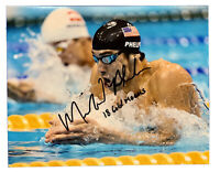 MICHAEL PHELPS Original Signed Autographed 8x10 SUMMER OLYMPICS Photo COA Inscr