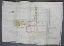 Aveyron. Plan Hameau Raynals & Chemin Croix de Castelnau à Cambon. XVIIIè siècle