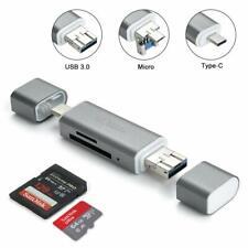 3-in-1 Card Reader USB 3.0 for SD, SDHC, SDXC, Micro SD,Micro SDHC, SDXC
