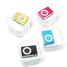 Set of 6 x MP3 PLAYERS EARPHONES AND CHARGING CABLE MINI CLIP BUNDLE Mix Colours