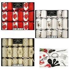 Christmas- Pack of 6 Deluxe Crackers - 33cm - Choose Design
