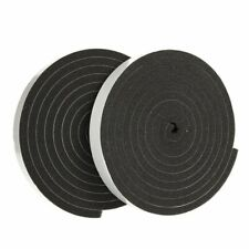 2-Pack Weather Stripping Foam Tape, Multi-Surface Black Adhesive Foam Tape 10 Ft