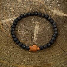 Turtle Wood Natural Ebony Bracelet Men 7.5 Turtle Bracelet By Ruigos Unique