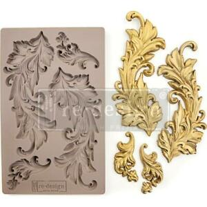 Prima Marketing Mould Mold BAROQUE SWIRLS Flowers Food Safe Clay Candy Chocolate