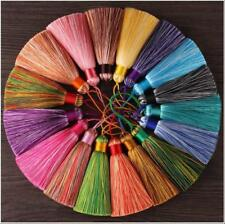 2pcs Rayon Tassel Pendants Gradient colour Trim Key Chian Jewelry Making 8cm