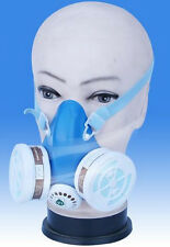 Gas Dust Mask With Dual Activated Carbon Cartridges Self-Breathing Filtrating