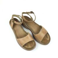 Dansko Tan Leather Open Toe Sandals Size EU 40 US Size 9.5
