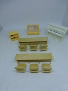 Sylvanian Calico Critters Country Tree School Replacements Desk Chairs Piano +