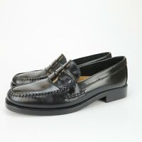 Bass Weejuns Katherine II Womens Classic Black Leather Penny Loafers Size 8 M