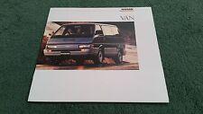 1987 / 1988 Model NISSAN VAN - MPV / Bus / Minibus - LARGE USA BROCHURE Vanette