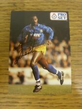 1992 Autographed Trade Card: Southend United - Ansah, Andy [Pro Set]. Bobfrankan