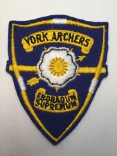 Vtg York Archers Patch Pa Bow Hunting Target Archery Arrow Pennsylvania Usa