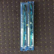 "999- DOUBLE BLADE 18"" blue windscreen CHROME wiper PAIR UNIVERSAL TYPE"