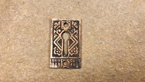 Antique Victorian Eastlake Ornate Key Hole Cover Plate Lock Key Escutcheon
