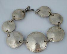 Vintage WW2 Australia Trench Art Sweet Heart Bracelet Coin