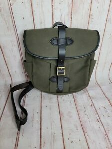 Filson Mens Satchel Twill Shoulder Strap Everyday Carry Bag Army Green Leather
