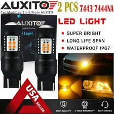 AUXITO 2X 7440 7443 7443NA LED Amber Yellow Turn Signal Light Bulb 14K EOA