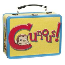 Curious George Animation Art and Name Large Tin Tote Lunchbox New Unused