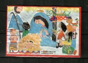 ECUADOR Scott's 1548 ( S/S ) Christmas, Children's Art F/VF Used ( 2000 ) #3