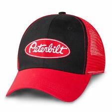 Peterbilt trucks Black / Red Mesh back trucker value cap diesel base ball hat