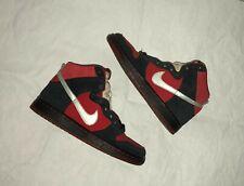 Nike SB Dunk High Pro Black Red White Size 6