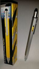 9 in 1 MONTEVERDE SILVER TOOL PEN WITH STYLUS SCREWDRIVERS LEVEL RULERS OZ STOCK