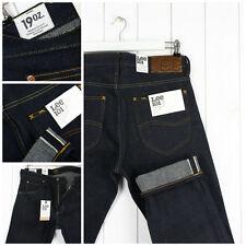 NEU Lee 101Z 540ml schwer Jeans trocken / Roh Kanten reg. Straight Fit _ W32 L32
