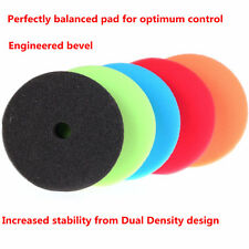 5X Sponge Dual Density Polishing Pad Waxing Buffer Kit Set For Car Polisher