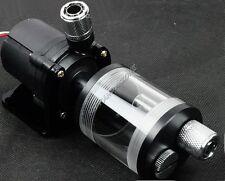 Water Cooling 60mm G1/4 3/8 Cylinder Reservoir + 12V 6W 600L/H Pump + Fitting