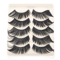 5 Pairs 3D Cross Thick Long False Eyelashes Stage Makeup Fake Eye Lashes  X