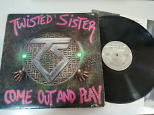 """Twisted Sister Come Out and Play 1985 USA Edition - LP Vinilo 12"""" VG/G+"""