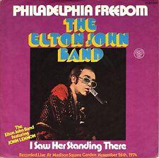 """7"""" Elton John – I Saw Her Standing There (John Lennon/ Beatles) // Germany 1975"""