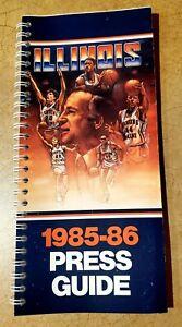 1985-86 ILLINOIS FIGHTING ILLINI Basketball Media Press Guide - Lou Henson