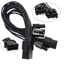 8 Pin Male to Dual 8 (6+2) Pin Female ATX Board PSU Power Extension Cable Useful