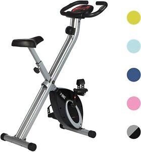 Vélo d'Appartement Pliable Argent Noir Hometrainer entraîne tout le corps