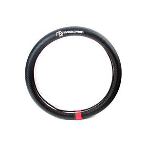38cm Carbon Fiber Sport Universal Car Steering Wheel Cover Fit For Mazda Speed