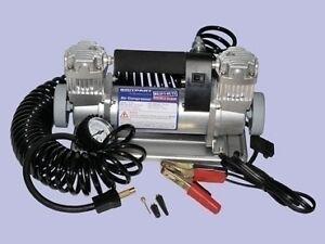 Britpart 12 Volt Double Pump Air Compressor / Tyre Inflator 4x4 / Car  DA2392XS