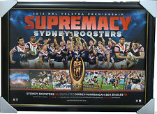 Sydney Roosters 2013 Premiers NRL Official Premiership Print Framed Minichiello