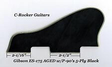 ES-175 Pickguard & Mounts AGED W/P-90's 5-ply Black for Vintage Gibson Project