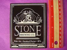Bier Aufkleber ~ ~ Stein Gär Rauchig Porter, Ipa , Pale ~ San Diego, Kalifornien