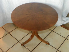 Walnut Sunburst Veneer Round Side Table End Table. (T272)