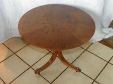 Walnut Sunburst Veneer Round Side Table End Table. (T272)