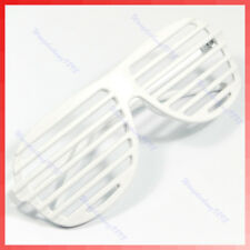 1PC New Full Shutter Glasses Shades Sunglasses Club Party White
