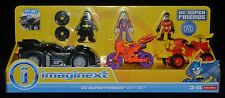 DC Super Friends GIFT SET BATMOBILE, JOKER w Cycle & ROBIN 4-Wheeler w DVD