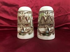 """Staffordshire's """"Heritage Hall"""" Made In England ~ Salt & Pepper Shakers"""