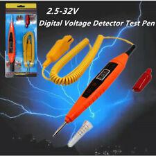 Digital LCD Electric Car Fuse Circuit Probe Tester Voltage Indicator 3-32V Valid